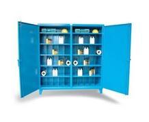 Double Shift Multi-Divider Bin Storage Cabinet