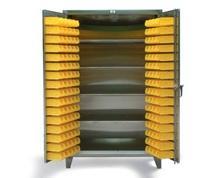 Stainless Steel 4-Shelf Bin Storage Cabinet