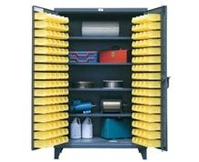 4-Shelf Bin Storage Cabinet