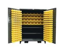 Extra Wide Bin Cabinet with High Capacity Shelf Storage