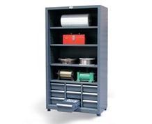 Combination Open-Drawer Storage Cabinet