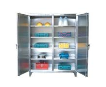 Stainless Steel Double Shift Storage Cabinet