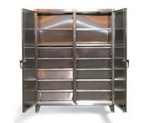 Stainless Steel Double Shift Cabinet with Drawers