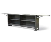 Extra-Wide Shelving Unit With Two Fold-Up Panels