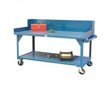 Mobile Shop Table With Side Guards