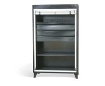 Roll-Up Door Cabinet with Drawers