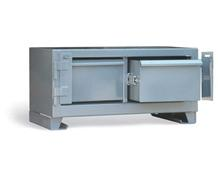 Two-Drawer Shelving Unit With Lock Bar