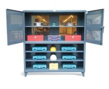 Two Tier Combination Ventilated Cabinet & Closed Shelving Unit