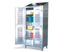 Stainless Steel Cabinet with Ventilated Doors