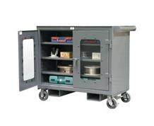 Clearview Mobile Work Cart with Forklift Pockets