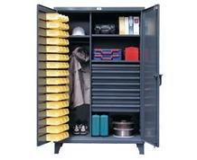 Wardrobe/Bin Storage Cabinet with Drawers