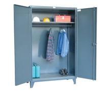 Wardrobe Cabinet with Full Width Hanger Rod