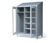 Wardrobe Cabinet with See-Thru Doors